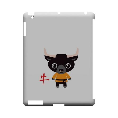 Ox on White Geeks Designer Line Chinese Horoscope Series Slim Hard Case for Apple iPad (3rd & 4th Gen.)