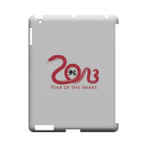 Red Year of the Snake Geeks Designer Line Chinese Horoscope Series Slim Hard Case for Apple iPad (3rd & 4th Gen.)