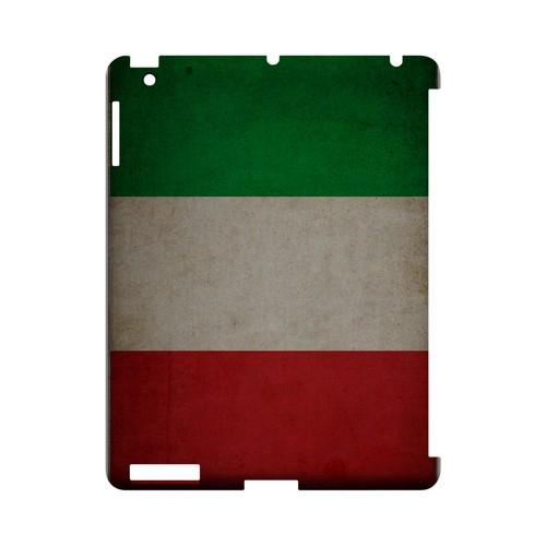 Grunge Italy Geeks Designer Line Flag Series Slim Hard Case for Apple iPad (3rd & 4th Gen.)