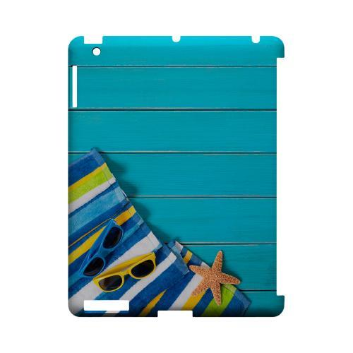 Decked Out Geeks Designer Line Beach Series Slim Hard Case for Apple iPad (3rd & 4th Gen.)