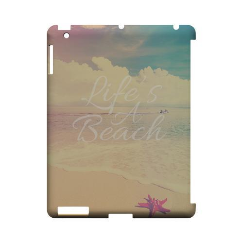 Life's A Beach Geeks Designer Line Beach Series Slim Hard Case for Apple iPad (3rd & 4th Gen.)