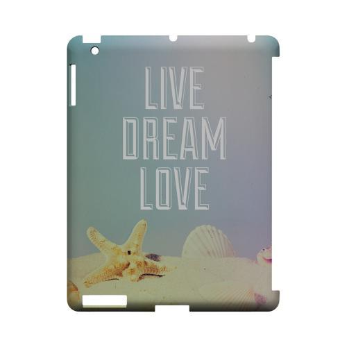 Live Dream Love Geeks Designer Line Beach Series Slim Hard Case for Apple iPad (3rd & 4th Gen.)
