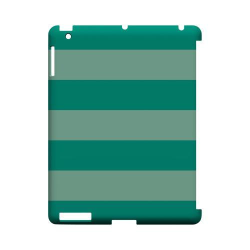 Emerald Grayed Jade - Geeks Designer Line Stripe Series Hard Case for Apple iPad (3rd & 4th Gen.)