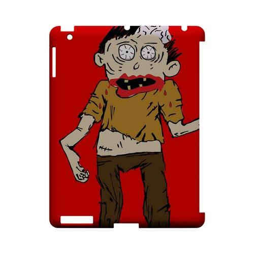 Zombie on Red - Geeks Designer Line (GDL) Monster Mash Series Hard Back Cover for Apple iPad (3rd & 4th Gen.)