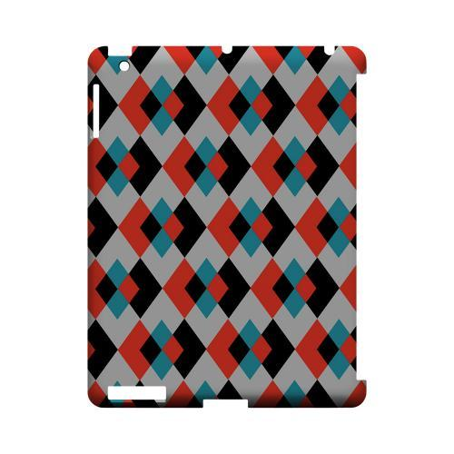 Double Diamond Vision - Geeks Designer Line Checker Series Hard Case for Apple iPad (3rd & 4th Gen.)