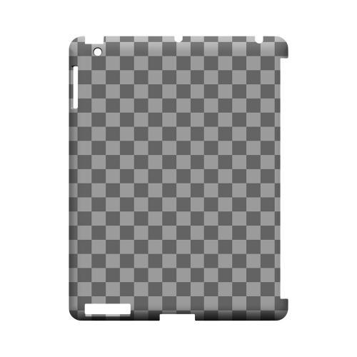 Gray/ Light Gray - Geeks Designer Line Checker Series Hard Case for Apple iPad (3rd & 4th Gen.)