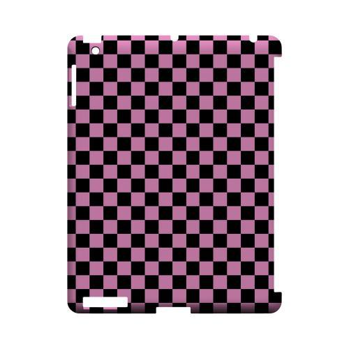 Pink/ Black - Geeks Designer Line Checker Series Hard Case for Apple iPad (3rd & 4th Gen.)