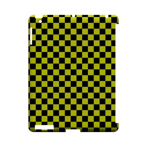 Yellow/ Black - Geeks Designer Line Checker Series Hard Case for Apple iPad (3rd & 4th Gen.)