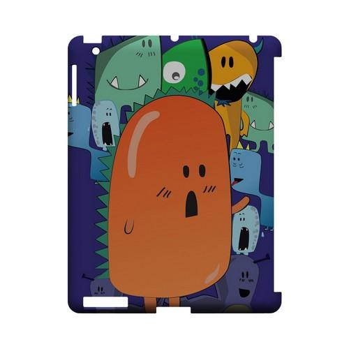 ZORGBLATS Orange Moob Close-Up - Geeks Designer Line (GDL) Monster Mash Series Hard Back Cover for Apple iPad (3rd & 4th Gen.)