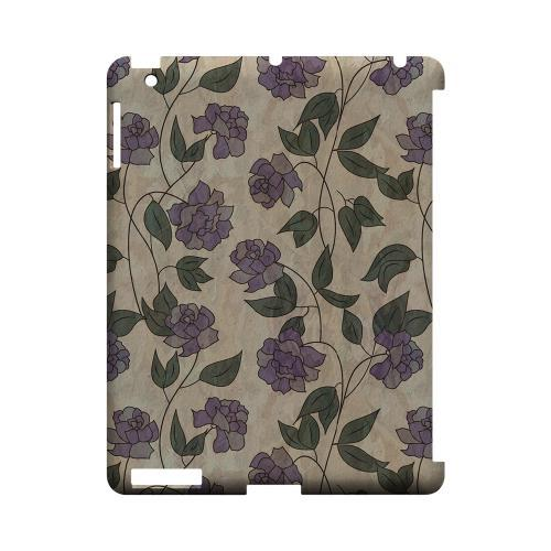 Purple Flowers & Vines Wallpaper - Geeks Designer Line Floral Series Hard Case for Apple iPad (3rd & 4th Gen.)