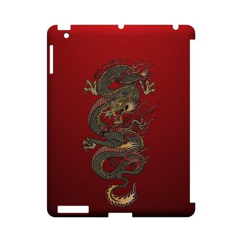 Dragon on Red Gradient - Geeks Designer Line Tattoo Series Hard Case for Apple iPad (3rd & 4th Gen.)