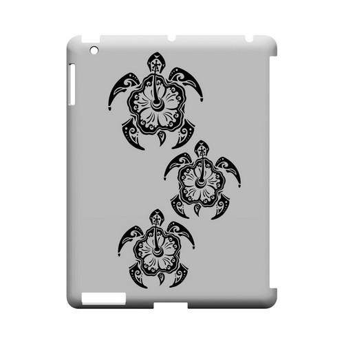 Island Turtle Trail - Geeks Designer Line Tattoo Series Hard Case for Apple iPad (3rd & 4th Gen.)