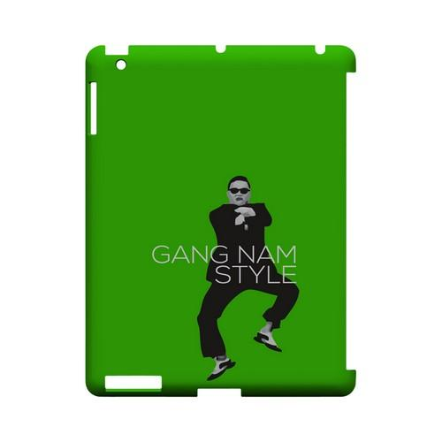 Green Gangnam Style - Geeks Designer Line Slim Back Cover for Apple iPad (3rd & 4th Gen.)