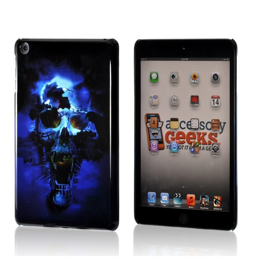 Blue Skull Hard Case for Apple iPad Mini