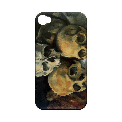 Paul Cezanne Pyramid of Skulls Geeks Designer Line Artist Series Matte Hard Case for Apple iPhone 4/4S