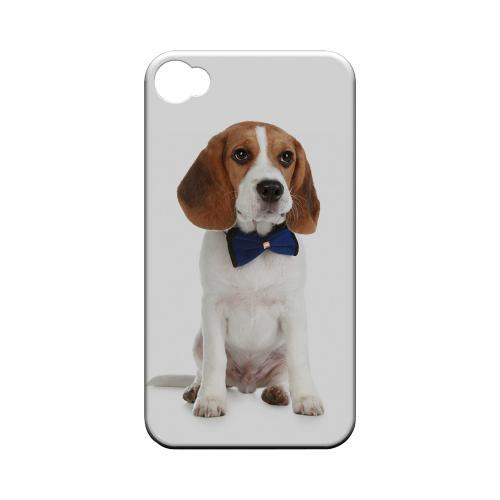 Beagle with Bow Tie Geeks Designer Line Puppy Series Matte Hard Case for Apple iPhone 4/4S