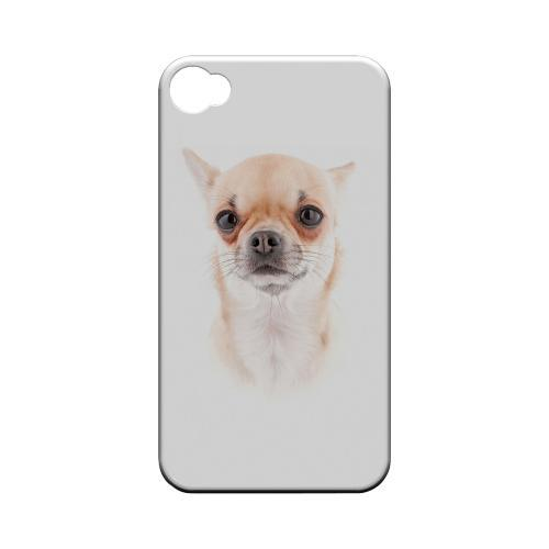 Chihuahua Geeks Designer Line Puppy Series Matte Hard Case for Apple iPhone 4/4S