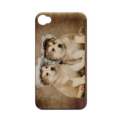Alaskan Malamute Geeks Designer Line Puppy Series Matte Hard Case for Apple iPhone 4/4S