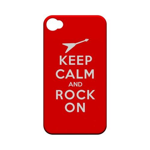 Red Rock On Geeks Designer Line Keep Calm Series Matte Hard Case for Apple iPhone 4/4S