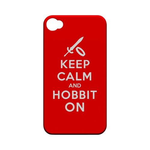 Red Hobbit On Geeks Designer Line Keep Calm Series Matte Hard Case for Apple iPhone 4/4S