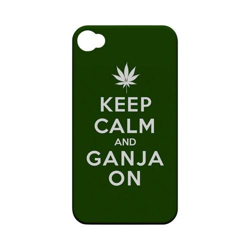 Green Ganja On Geeks Designer Line Keep Calm Series Matte Hard Case for Apple iPhone 4/4S