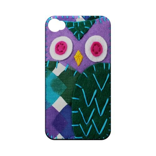 Purple/ Green Owl Geek Nation Program Exclusive Jodie Rackley Series Hard Case for Apple iPhone 4/4S
