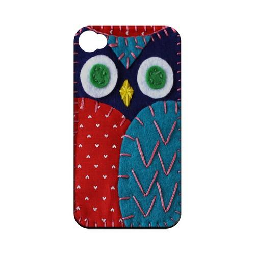 Dark Blue/ Red Owl Geek Nation Program Exclusive Jodie Rackley Series Hard Case for Apple iPhone 4/4S
