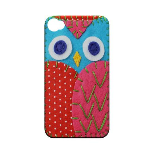 Sky Blue/ Pink Owl Geek Nation Program Exclusive Jodie Rackley Series Hard Case for Apple iPhone 4/4S