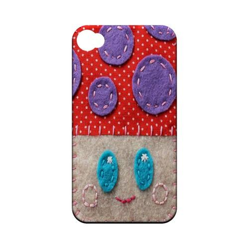 Red/ Purple Mushroom Geek Nation Program Exclusive Jodie Rackley Series Hard Case for Apple iPhone 4/4S
