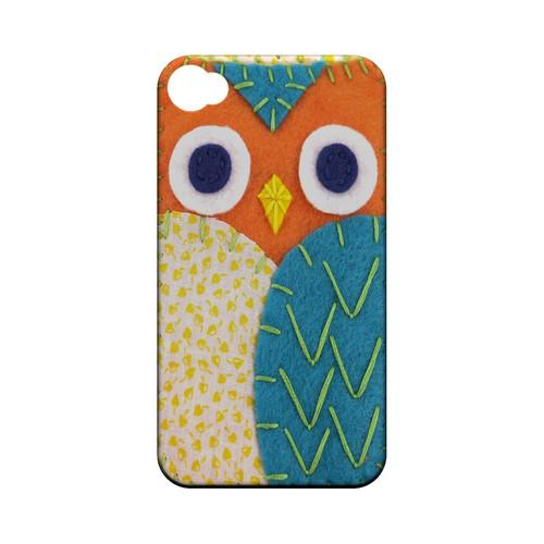 Orange/ Blue Owl Geek Nation Program Exclusive Jodie Rackley Series Hard Case for Apple iPhone 4/4S