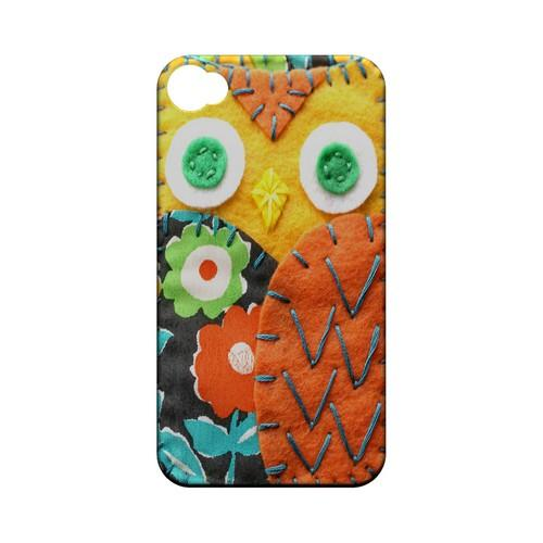 Yellow/ Orange Owl Geek Nation Program Exclusive Jodie Rackley Series Hard Case for Apple iPhone 4/4S