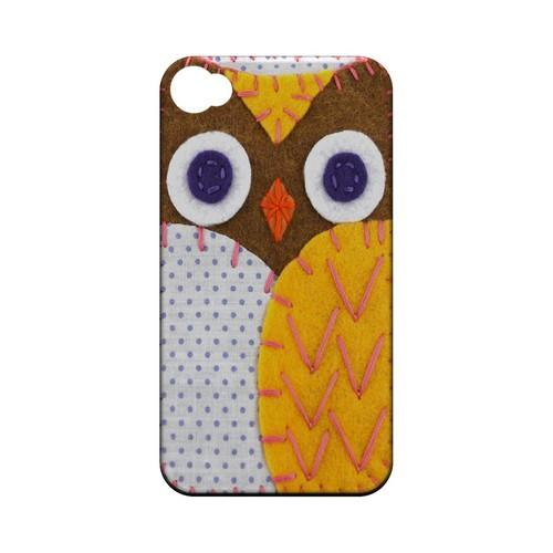 Brown/ Orange Owl Geek Nation Program Exclusive Jodie Rackley Series Hard Case for Apple iPhone 4/4S