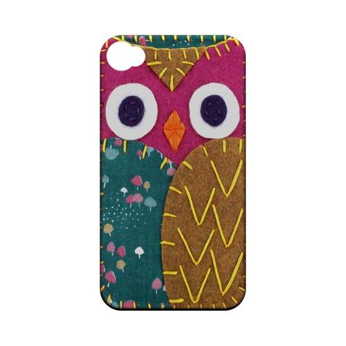 Hot Pink/ Brown Owl Geek Nation Program Exclusive Jodie Rackley Series Hard Case for Apple iPhone 4/4S
