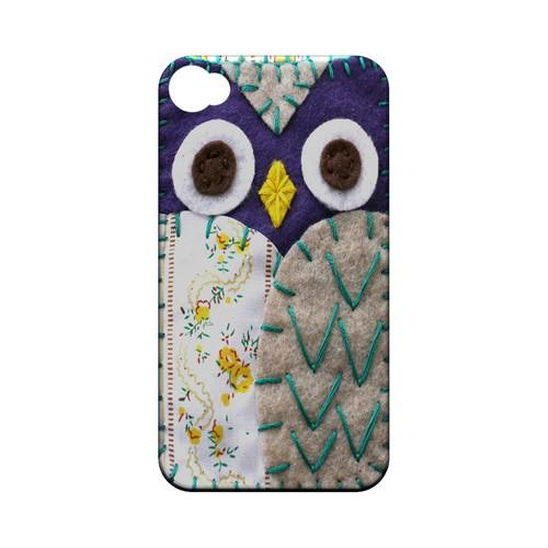 Blue/ Gray Owl Geek Nation Program Exclusive Jodie Rackley Series Hard Case for Apple iPhone 4/4S