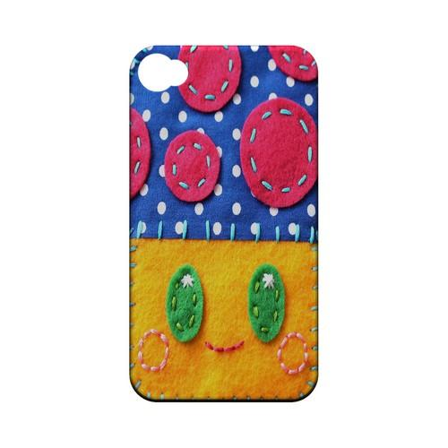 Blue/ Yellow Mushroom Geek Nation Program Exclusive Jodie Rackley Series Hard Case for Apple iPhone 4/4S