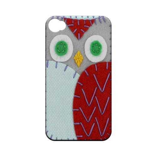 Gray/ Red Owl Geek Nation Program Exclusive Jodie Rackley Series Hard Case for Apple iPhone 4/4S