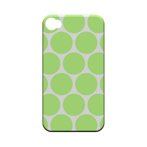 Big & Lime Green Geeks Designer Line Polka Dot Series Matte Hard Case for Apple iPhone 4/4S