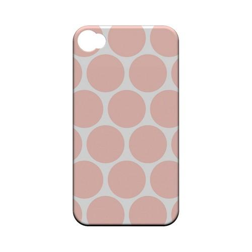 Big & Baby Pink Geeks Designer Line Polka Dot Series Matte Hard Case for Apple iPhone 4/4S