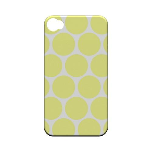 Big & Yellow Geeks Designer Line Polka Dot Series Matte Hard Case for Apple iPhone 4/4S
