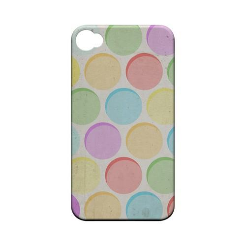 Grungy & Rainbow Geeks Designer Line Polka Dot Series Matte Hard Case for Apple iPhone 4/4S