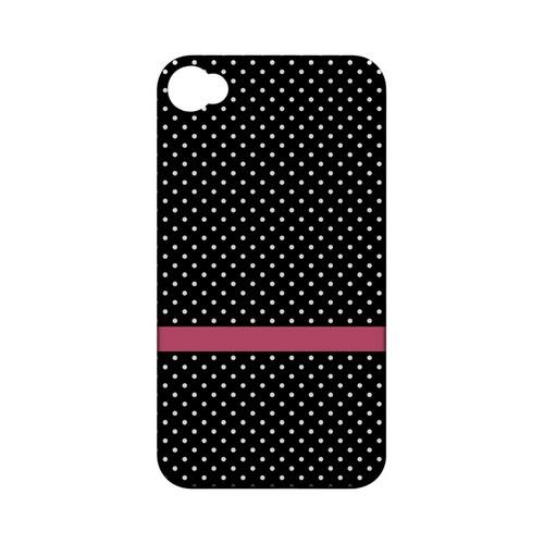 Pink Horizontal Stripe Geeks Designer Line Polka Dot Series Matte Hard Case for Apple iPhone 4/4S