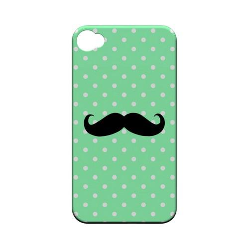 Stache on Mint Geeks Designer Line Polka Dot Series Matte Hard Case for Apple iPhone 4/4S