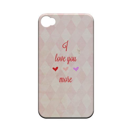 I Love You More Geeks Designer Line Heart Series Matte Hard Case for Apple iPhone 4/4S