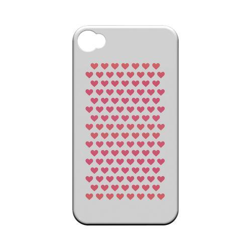 Miniature Hearts Geeks Designer Line Heart Series Matte Hard Case for Apple iPhone 4/4S