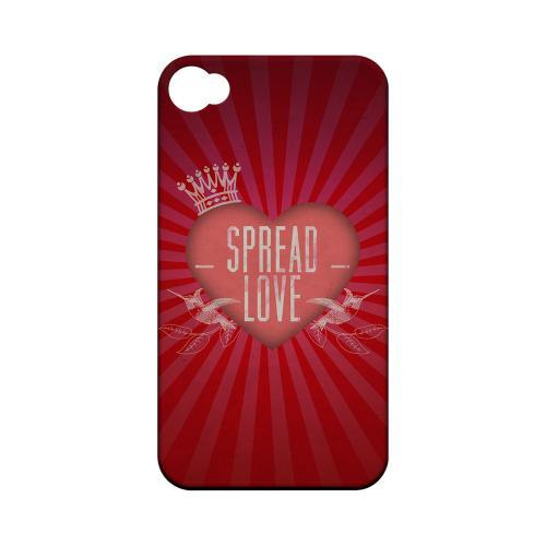 Spread Love Geeks Designer Line Heart Series Matte Hard Case for Apple iPhone 4/4S