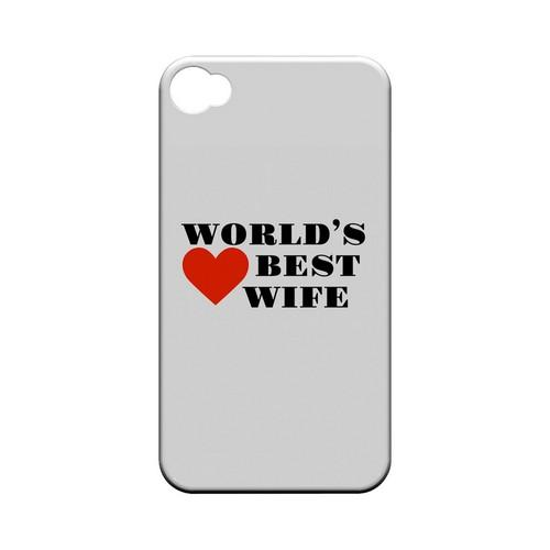 World's Best Wife Geeks Designer Line Heart Series Matte Hard Case for Apple iPhone 4/4S