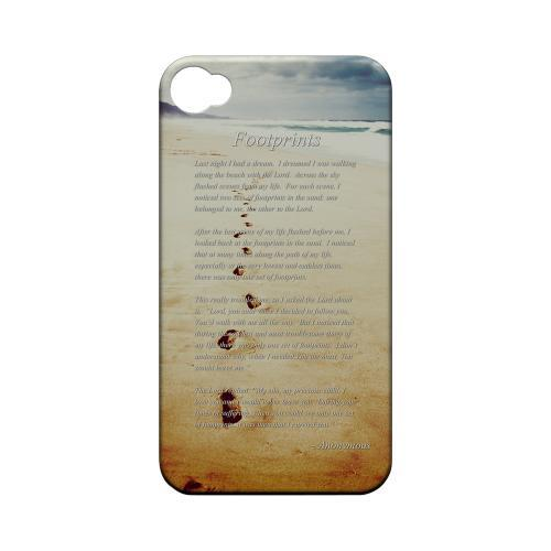 Footprints Geeks Designer Line Beach Series Matte Hard Case for Apple iPhone 4/4S