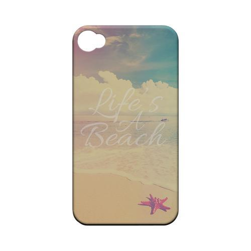 Life's A Beach Geeks Designer Line Beach Series Matte Hard Case for Apple iPhone 4/4S