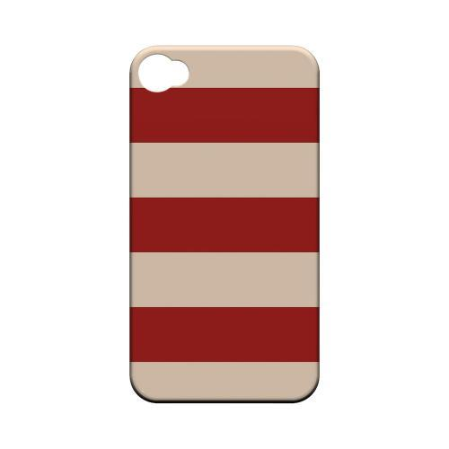Poppy Red - Geeks Designer Line Stripe Series Matte Case for Apple iPhone 4/4S