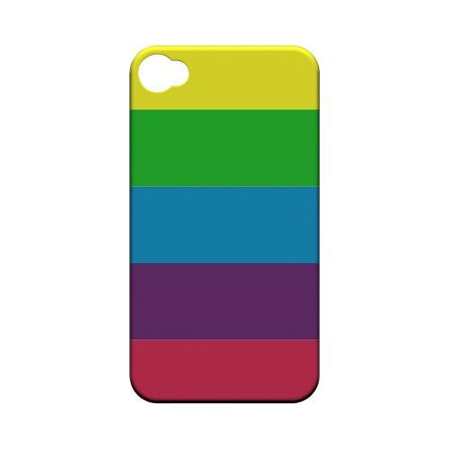 Rainbow Candy Stripes - Geeks Designer Line Stripe Series Matte Case for Apple iPhone 4/4S